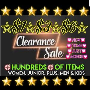 $1💟$3💜$6💥CLEARANCE SALE❤🌟100's of Choices🌟🌟